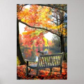 Un lugar para sentar la impresión de la pintura al póster