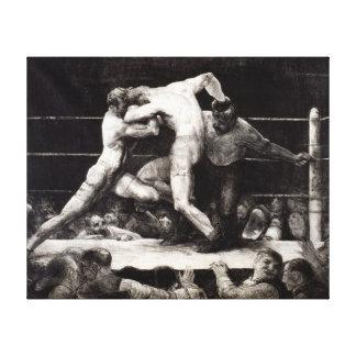 Un macho en Sharkey - George Bellows que encajona  Impresión En Lona
