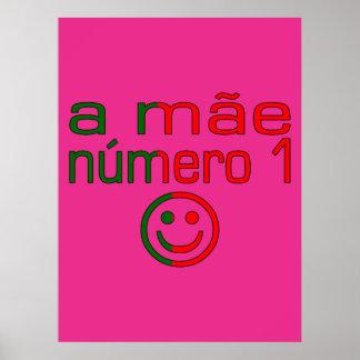 Un Mãe Número 1 - mamá del número 1 en portugués Impresiones