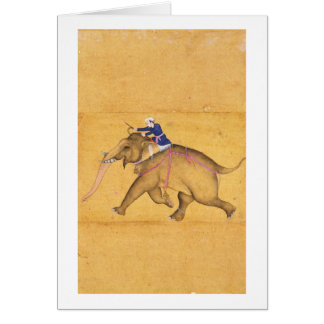Un Mahout que monta un elefante, del Clive grande Tarjetas