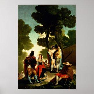 Un Maja y un Gallants, 1777 Poster