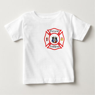 Un maltés rojo del bombero futuro playera