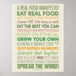 Un manifiesto real de la comida impresiones