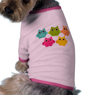 Un manojo brillante de búhos ropa perro