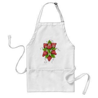 Un manojo de fresas delantal