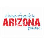 ¡Un manojo de gente en Arizona me ama!! Postales