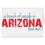 ¡Un manojo de gente en Arizona me ama!! Felicitaciones