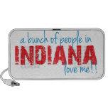 ¡Un manojo de gente en Indiana me ama!! Mini Altavoz