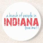 ¡Un manojo de gente en Indiana me ama!! Posavaso Para Bebida