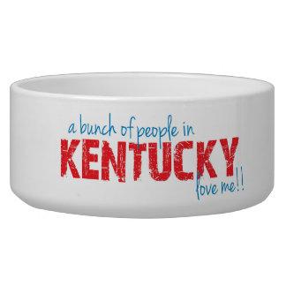 ¡Un manojo de gente en Kentucky me ama!! Comedero Para Mascota