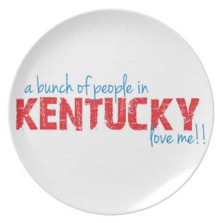 ¡Un manojo de gente en Kentucky me ama!! Plato