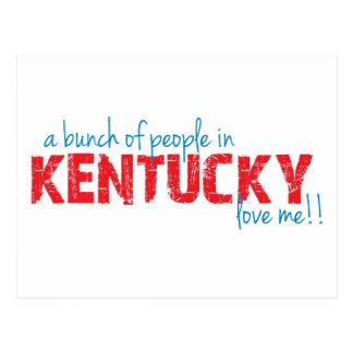 ¡Un manojo de gente en Kentucky me ama!! Tarjeta Postal