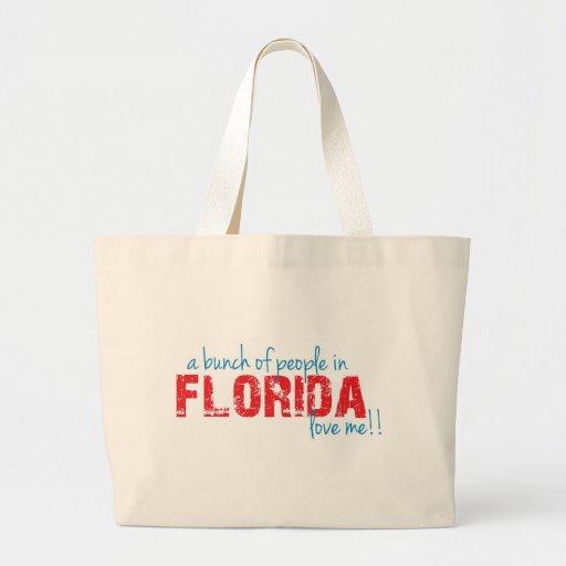 ¡Un manojo de gente en la Florida me ama!! Bolsas Lienzo