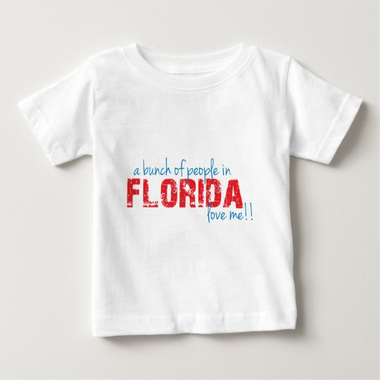 ¡Un manojo de gente en la Florida me ama!! Playera De Bebé