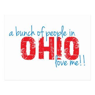 ¡Un manojo de gente en Ohio me ama!! Tarjetas Postales