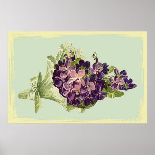 Un manojo de púrpura florece el poster póster