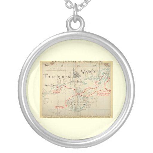 Un mapa auténtico de 1690 piratas (con adornos) joyeria personalizada
