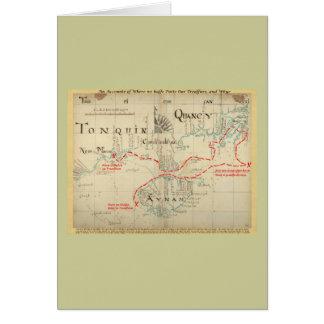 Un mapa auténtico de 1690 piratas (con adornos) tarjeta de felicitación