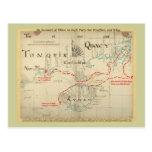 Un mapa auténtico de 1690 piratas (con adornos) postal