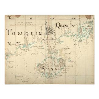 Un mapa auténtico de 1690 piratas invitación