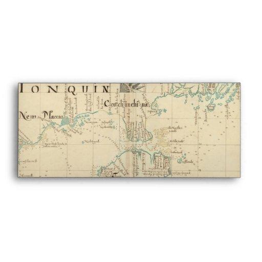 Un mapa auténtico de 1690 piratas sobre
