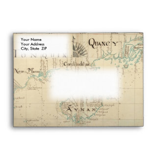 Un mapa auténtico de 1690 piratas sobres