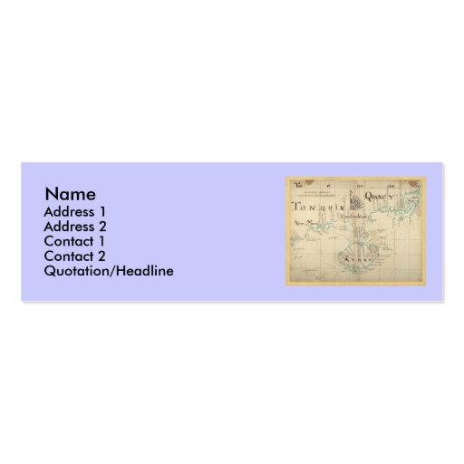 Un mapa auténtico de 1690 piratas plantillas de tarjetas de visita