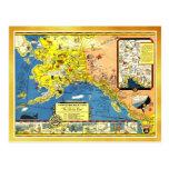 Un mapa bondadoso de Alaska Postal