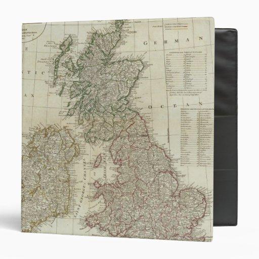 """Un mapa completo de las islas británicas carpeta 1 1/2"""""""