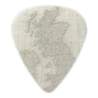 Un mapa completo de las islas británicas plectro de acetal