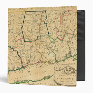"""Un mapa correcto de Connecticut Carpeta 1 1/2"""""""