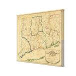 Un mapa correcto de Connecticut Impresiones En Lona