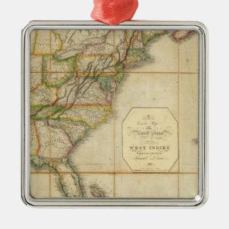 Un mapa correcto de los Estados Unidos Ornamento Para Reyes Magos