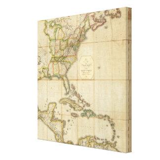 Un mapa correcto de los Estados Unidos Impresión En Lienzo Estirada