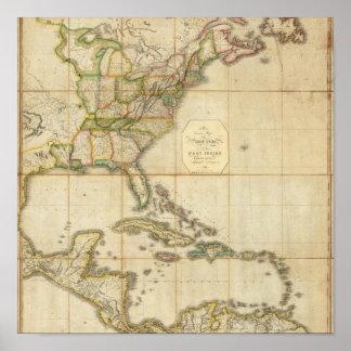 Un mapa correcto de los Estados Unidos Póster