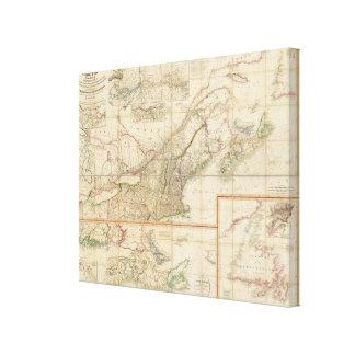 Un mapa de Cabotia Impresión En Lienzo