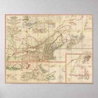 Un mapa de Cabotia Póster