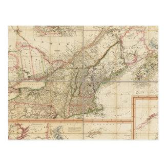 Un mapa de Cabotia Tarjetas Postales