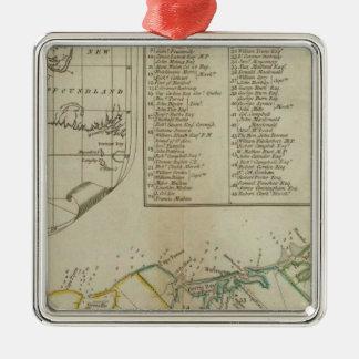 Un mapa de la isla de St John Ornamentos Para Reyes Magos