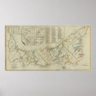 Un mapa de la isla de St John Poster