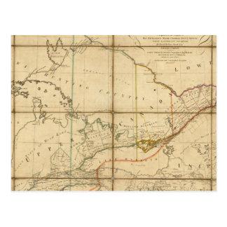 Un mapa de la provincia de Canadá superior Tarjeta Postal
