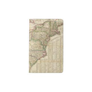 Un mapa de los caminos, de los canales y del barco funda para libreta y libreta pequeña moleskine