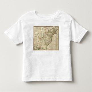 Un mapa de los caminos, de los canales y del barco playera de bebé