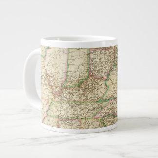 Un mapa de los caminos, de los canales y del barco taza grande
