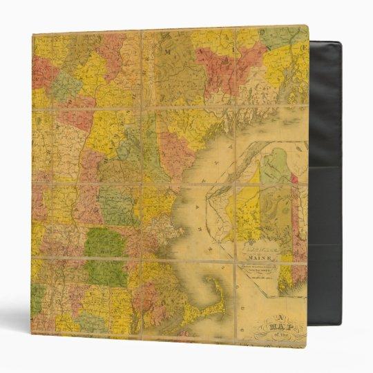 """Un mapa de los estados de Nueva Inglaterra Carpeta 1 1/2"""""""