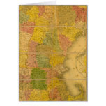 Un mapa de los estados de Nueva Inglaterra Felicitaciones