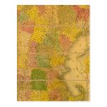 Un mapa de los estados de Nueva Inglaterra Tarjetas Postales