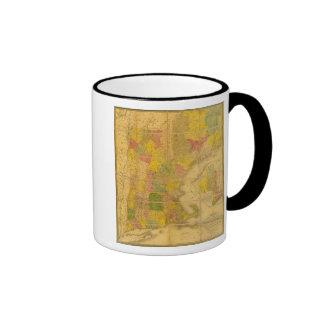Un mapa de los estados de Nueva Inglaterra Tazas De Café