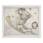 Un mapa de Norteamérica Posters