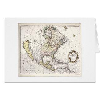 Un mapa de Norteamérica Tarjetón
